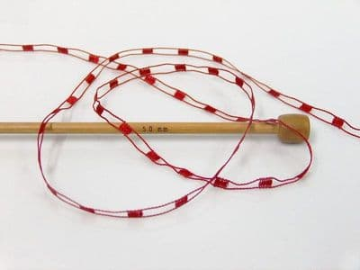 58130 - ICE YARNS 'MINI LADDER' TRELLIS SCARF & NECKLACE KNITTING YARN - CLARET RED